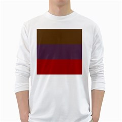 Brown Purple Red White Long Sleeve T-shirts by Jojostore