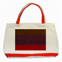 Brown Purple Red Classic Tote Bag (red) by Jojostore
