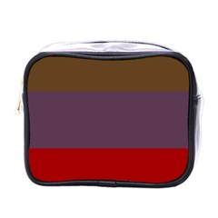 Brown Purple Red Mini Toiletries Bags by Jojostore