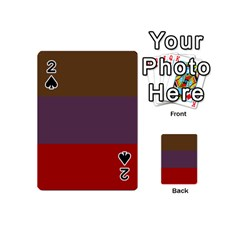 Brown Purple Red Playing Cards 54 (mini)  by Jojostore