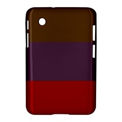 Brown Purple Red Samsung Galaxy Tab 2 (7 ) P3100 Hardshell Case