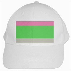 Grey Green Pink White Cap by Jojostore