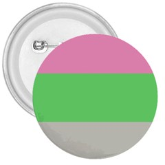 Grey Green Pink 3  Buttons by Jojostore