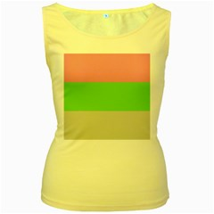 Grey Green Pink Women s Yellow Tank Top by Jojostore