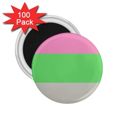 Grey Green Pink 2 25  Magnets (100 Pack)  by Jojostore