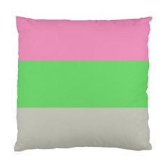 Grey Green Pink Standard Cushion Case (two Sides) by Jojostore