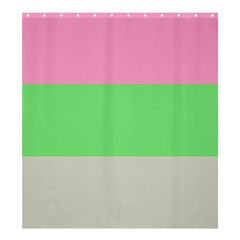 Grey Green Pink Shower Curtain 66  X 72  (large)  by Jojostore