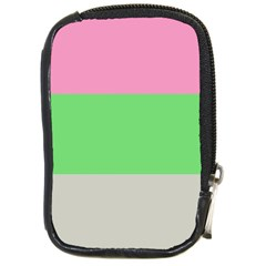 Grey Green Pink Compact Camera Cases by Jojostore