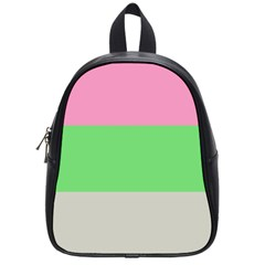 Grey Green Pink School Bags (small)  by Jojostore
