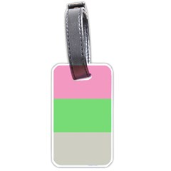Grey Green Pink Luggage Tags (two Sides) by Jojostore