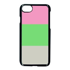 Grey Green Pink Apple Iphone 7 Seamless Case (black) by Jojostore