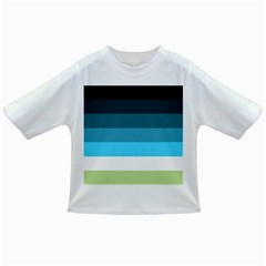 Line Color Black Green Blue White Infant/toddler T Shirts by Jojostore