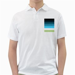 Line Color Black Green Blue White Golf Shirts by Jojostore