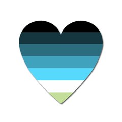 Line Color Black Green Blue White Heart Magnet by Jojostore