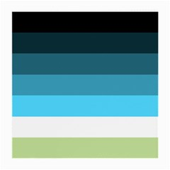 Line Color Black Green Blue White Medium Glasses Cloth (2 Side) by Jojostore