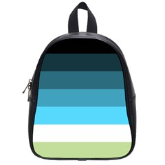 Line Color Black Green Blue White School Bags (small)  by Jojostore