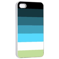 Line Color Black Green Blue White Apple Iphone 4/4s Seamless Case (white) by Jojostore