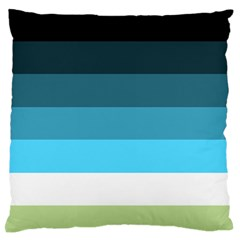 Line Color Black Green Blue White Large Flano Cushion Case (one Side) by Jojostore