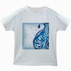 Delicate Tree Leaf Kids White T Shirts