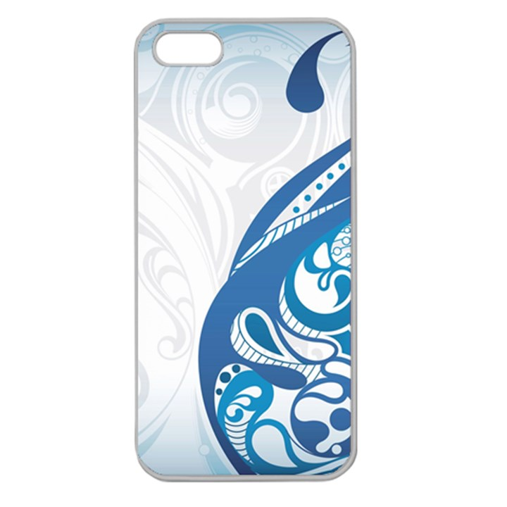Delicate Tree Leaf Apple Seamless iPhone 5 Case (Clear)