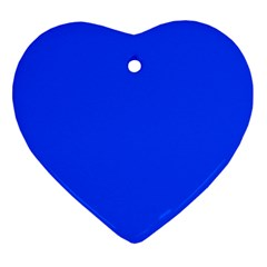 Plain Blue Ornament (heart) by Jojostore