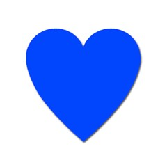 Plain Blue Heart Magnet by Jojostore