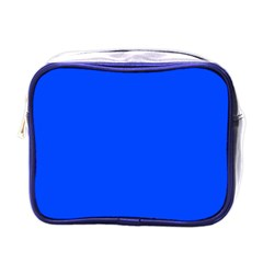 Plain Blue Mini Toiletries Bags by Jojostore