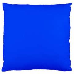 Plain Blue Large Cushion Case (two Sides) by Jojostore