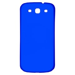 Plain Blue Samsung Galaxy S3 S Iii Classic Hardshell Back Case by Jojostore