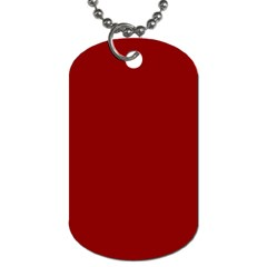 Plain Blue Red Dog Tag (two Sides) by Jojostore