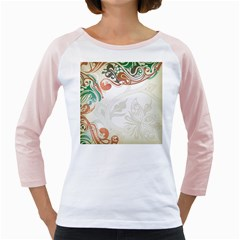 Flower Floral Tree Leaf Girly Raglans by Jojostore