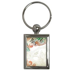 Flower Floral Tree Leaf Key Chains (rectangle)  by Jojostore