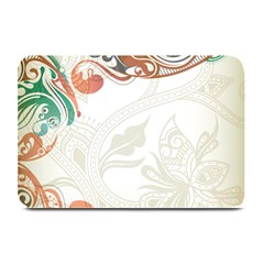 Flower Floral Tree Leaf Plate Mats by Jojostore