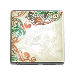 Flower Floral Tree Leaf Memory Card Reader (square) by Jojostore