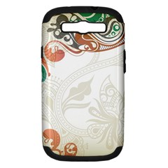 Flower Floral Tree Leaf Samsung Galaxy S Iii Hardshell Case (pc+silicone) by Jojostore