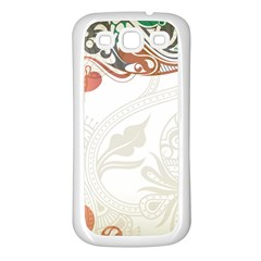 Flower Floral Tree Leaf Samsung Galaxy S3 Back Case (white) by Jojostore