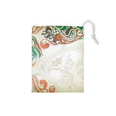 Flower Floral Tree Leaf Drawstring Pouches (small)  by Jojostore