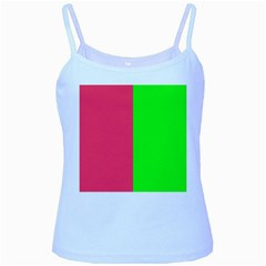Neon Red Green Baby Blue Spaghetti Tank by Jojostore