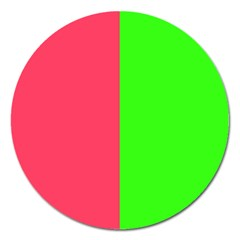 Neon Red Green Magnet 5  (round)
