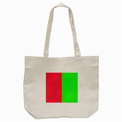 Neon Red Green Tote Bag (cream) by Jojostore