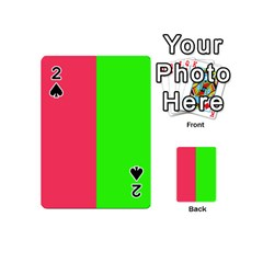 Neon Red Green Playing Cards 54 (mini)  by Jojostore