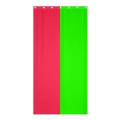 Neon Red Green Shower Curtain 36  X 72  (stall)  by Jojostore