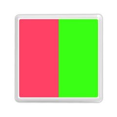 Neon Red Green Memory Card Reader (square)  by Jojostore