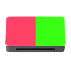 Neon Red Green Memory Card Reader With Cf by Jojostore