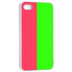 Neon Red Green Apple Iphone 4/4s Seamless Case (white) by Jojostore