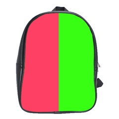 Neon Red Green School Bags (xl)