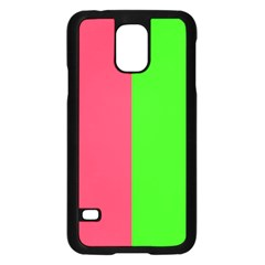 Neon Red Green Samsung Galaxy S5 Case (black) by Jojostore