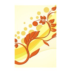 Floral Flower Gold Leaf Orange Circle Shower Curtain 48  X 72  (small)  by Jojostore