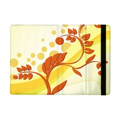 Floral Flower Gold Leaf Orange Circle Ipad Mini 2 Flip Cases by Jojostore