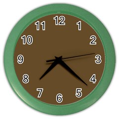 Plain Brown Color Wall Clocks by Jojostore